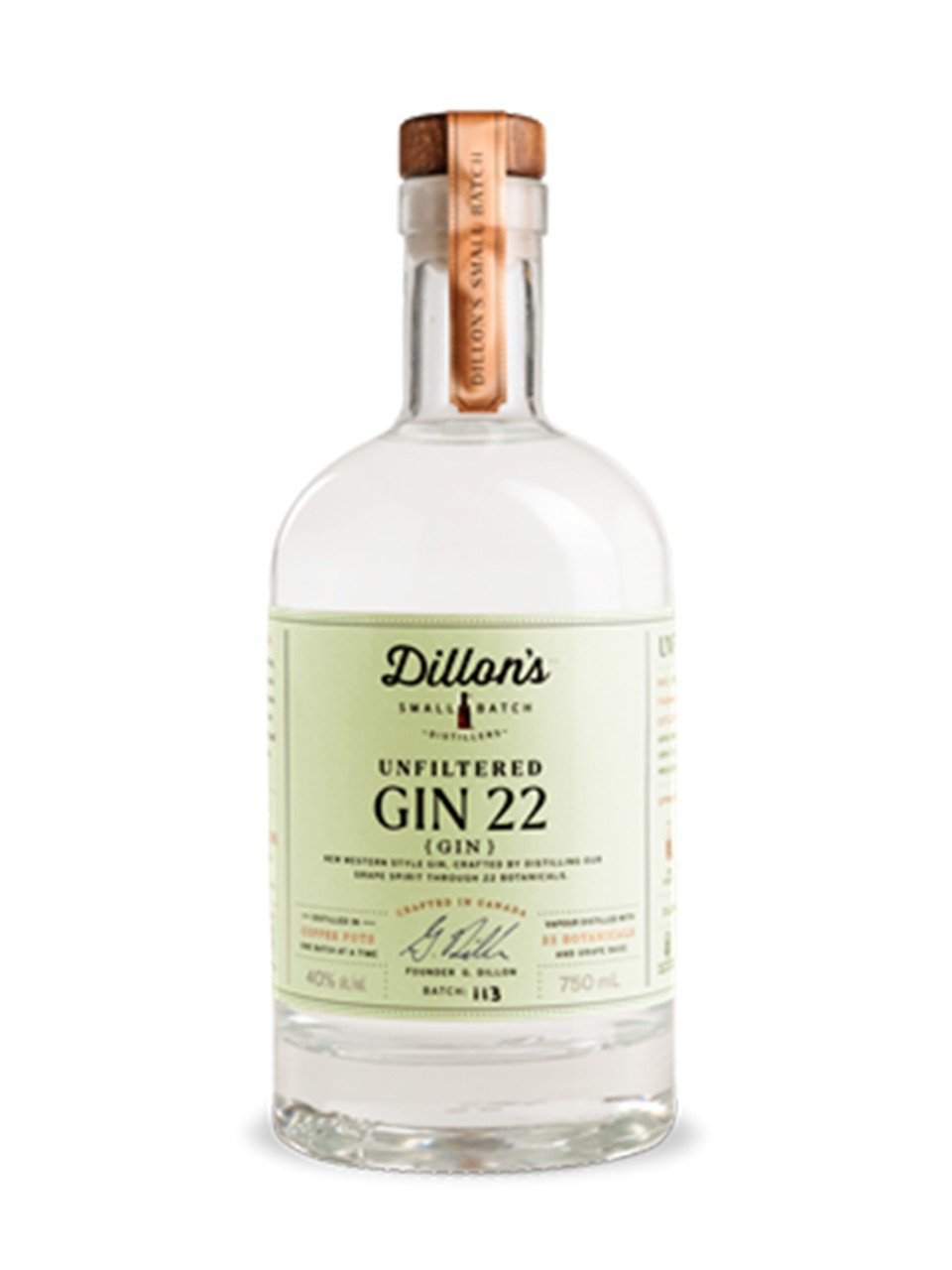 Image for Dillon's Gin 22 Unfiltered from LCBO