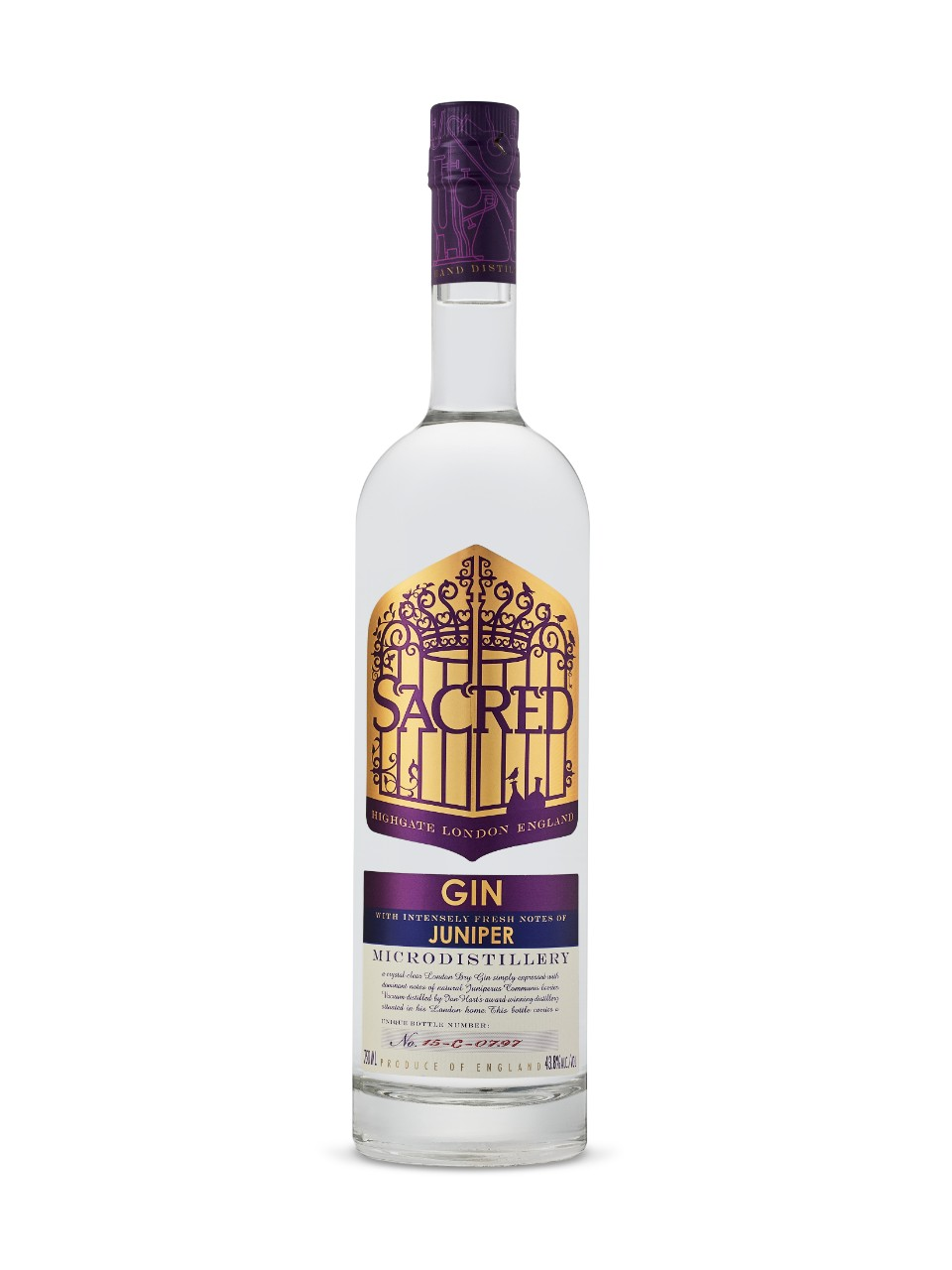 Image for Sacred Gin Juniper from LCBO