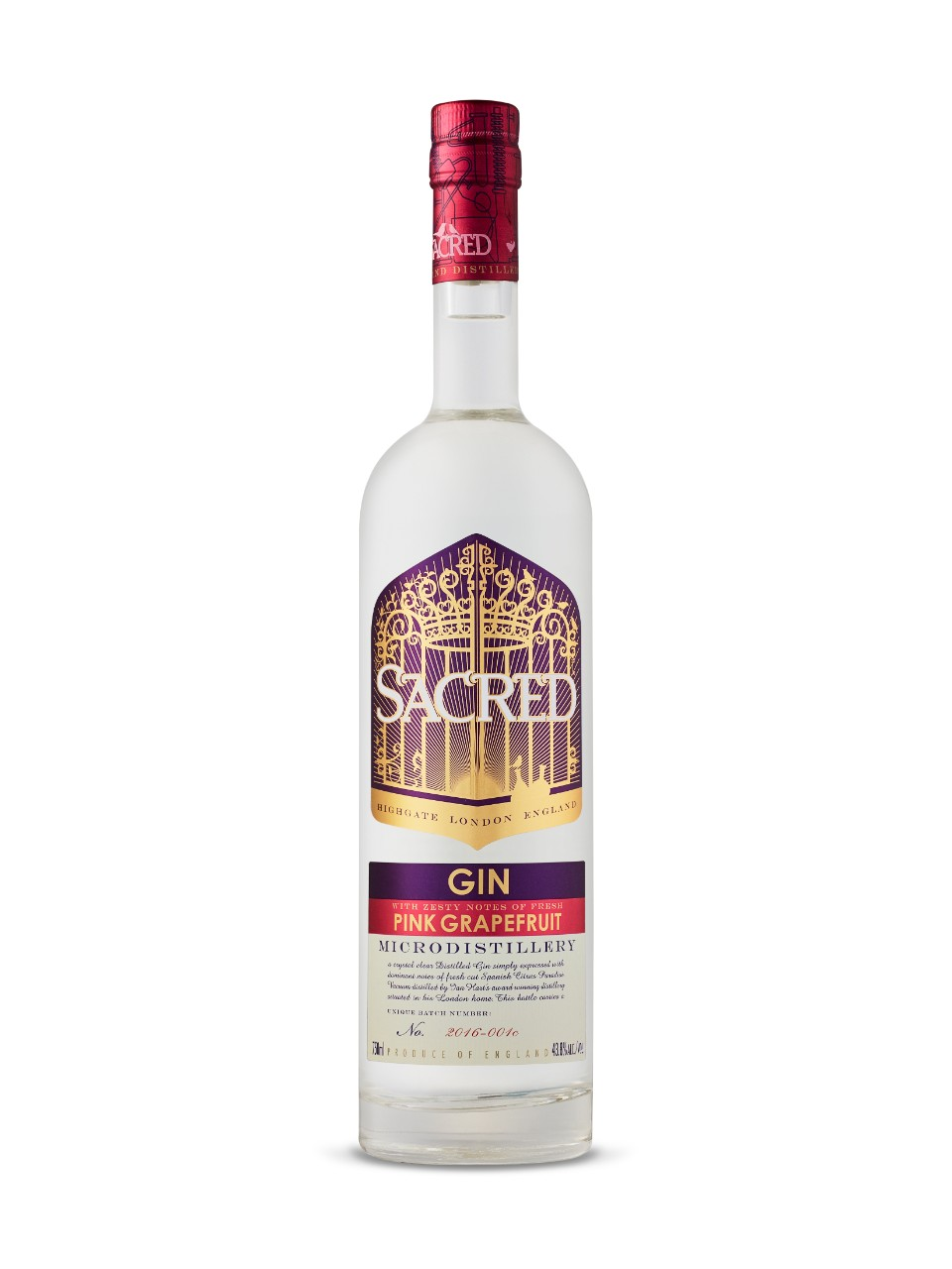 Image for Sacred Gin Pink Grapefruit from LCBO