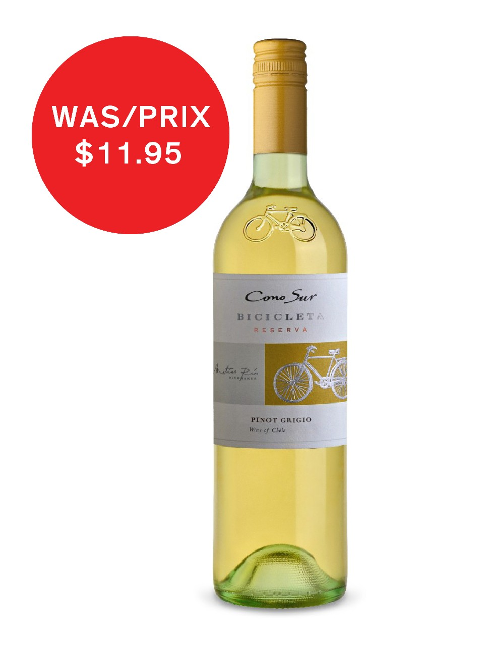Image for Cono Sur Bicicleta Pinot Grigio from LCBO