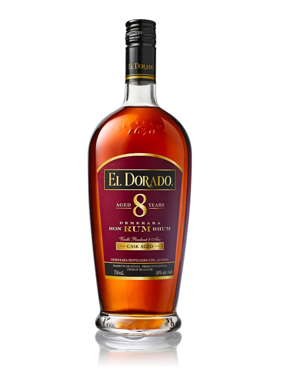 Image for El Dorado 8 Year Old Cask Aged Demerara Rum from LCBO