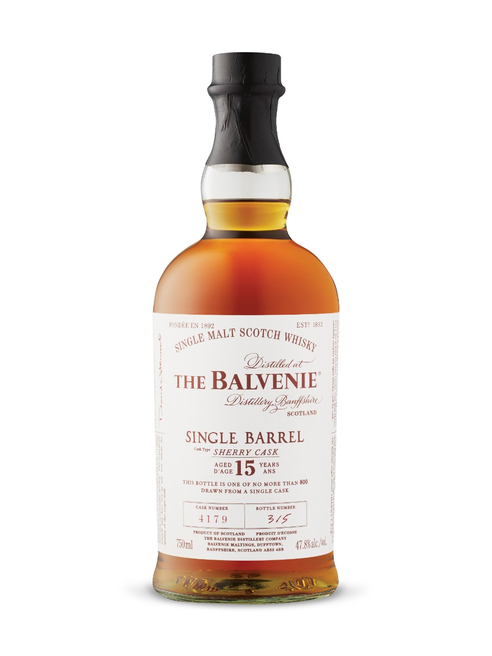 Image for The Balvenie 15-Year-Old Single Barrel Speyside Single Malt Scotch Whisky from LCBO