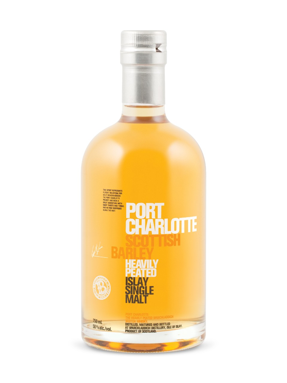 Image for Port Charlotte Scottish Barley Heavily Peated Islay Single Malt Scotch Whisky from LCBO