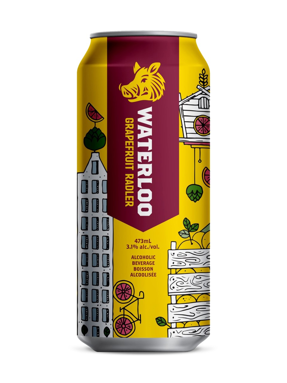 Image for Waterloo Grapefruit Radler from LCBO