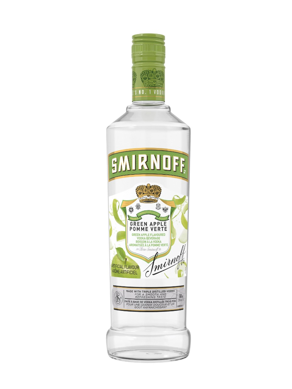 Image for Smirnoff Green Apple Flavoured Vodka from LCBO