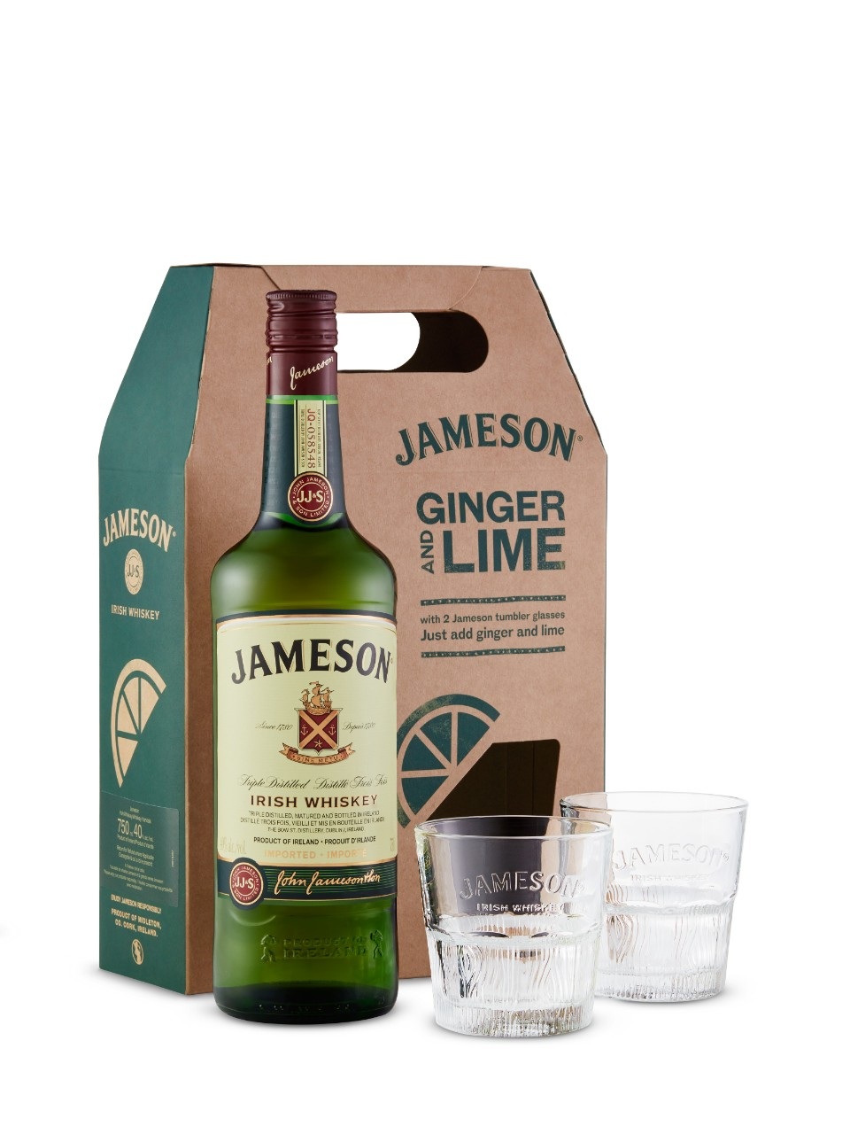 Jameson Irish Whiskey With Glasses Gift Pack