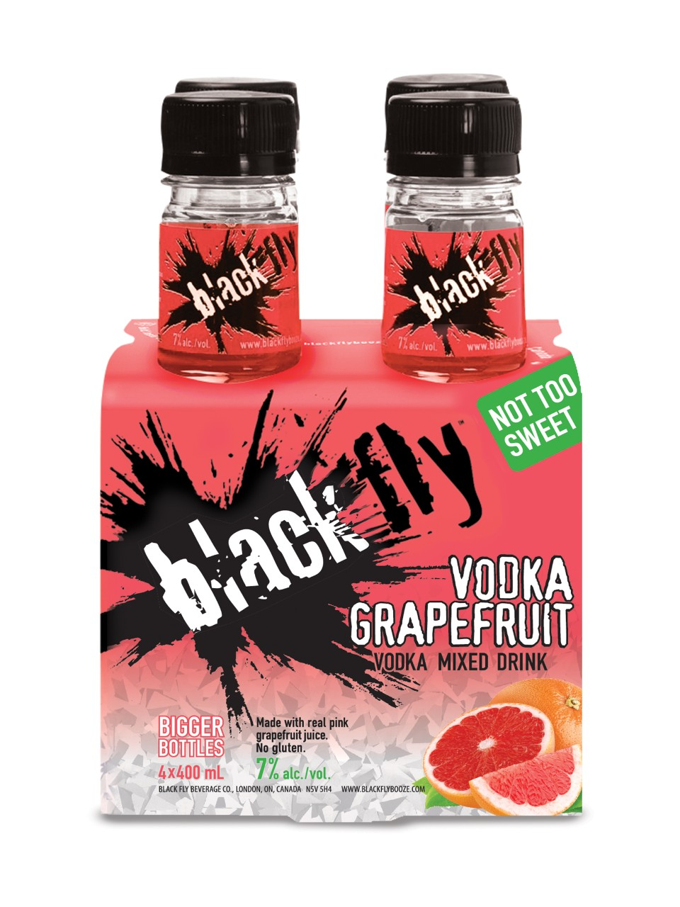 Image for Black Fly Vodka Grapefruit (PET) from LCBO