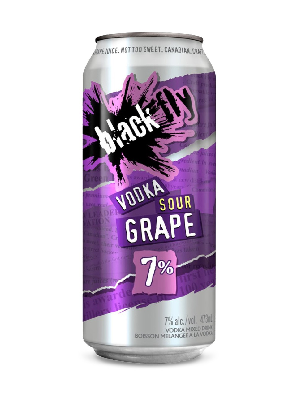 Image for Black Fly Vodka Sour Grape from LCBO