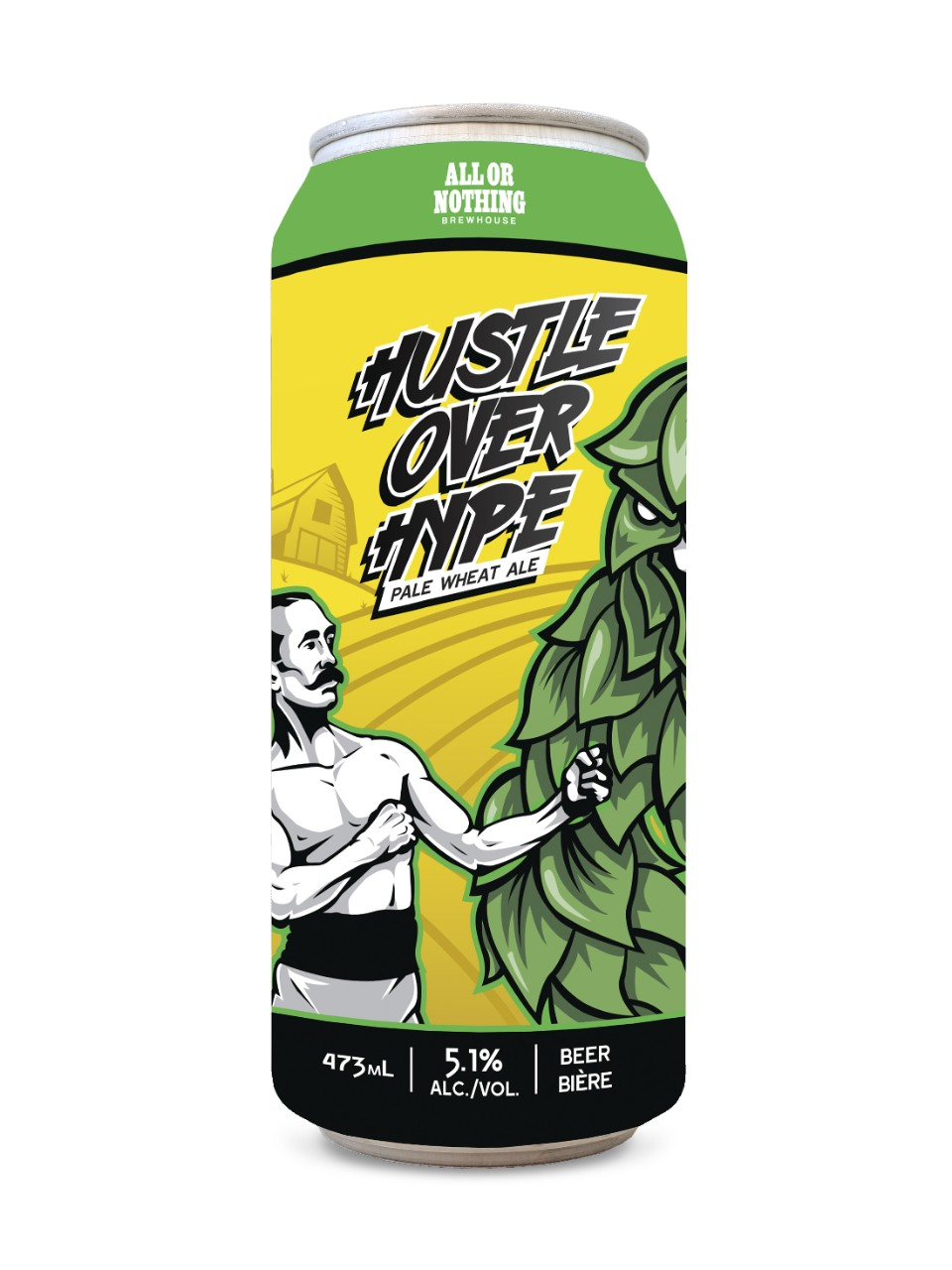 Image for All Or Nothing Hustle Over Hype Pale Wheat Ale from LCBO