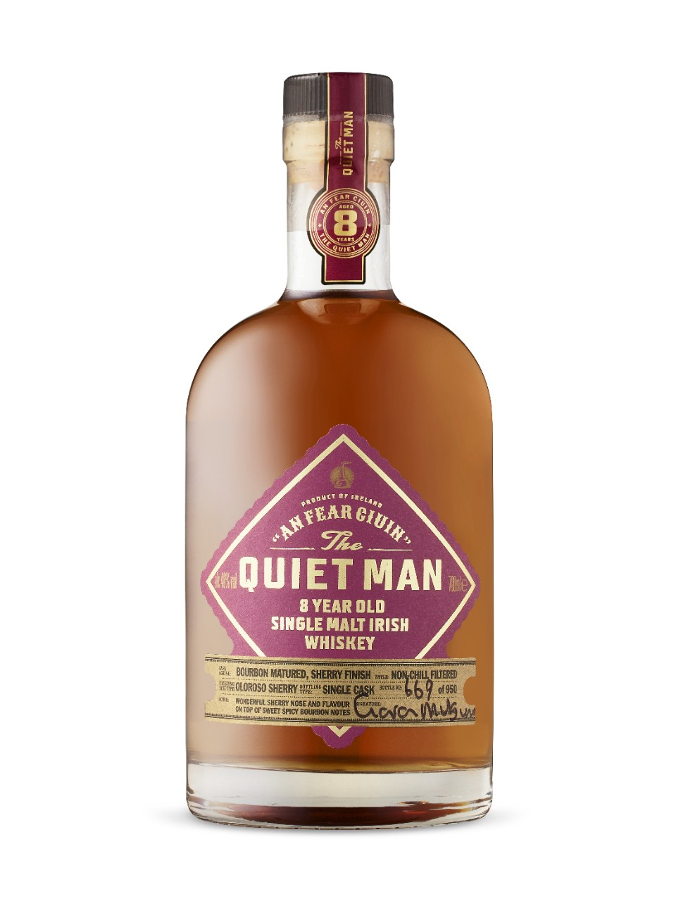Image for Quiet Man 8 Year Old Sherry Cask Irish Whiskey from LCBO
