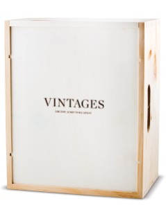 Vintages Wooden Box - 6 Bottle Box