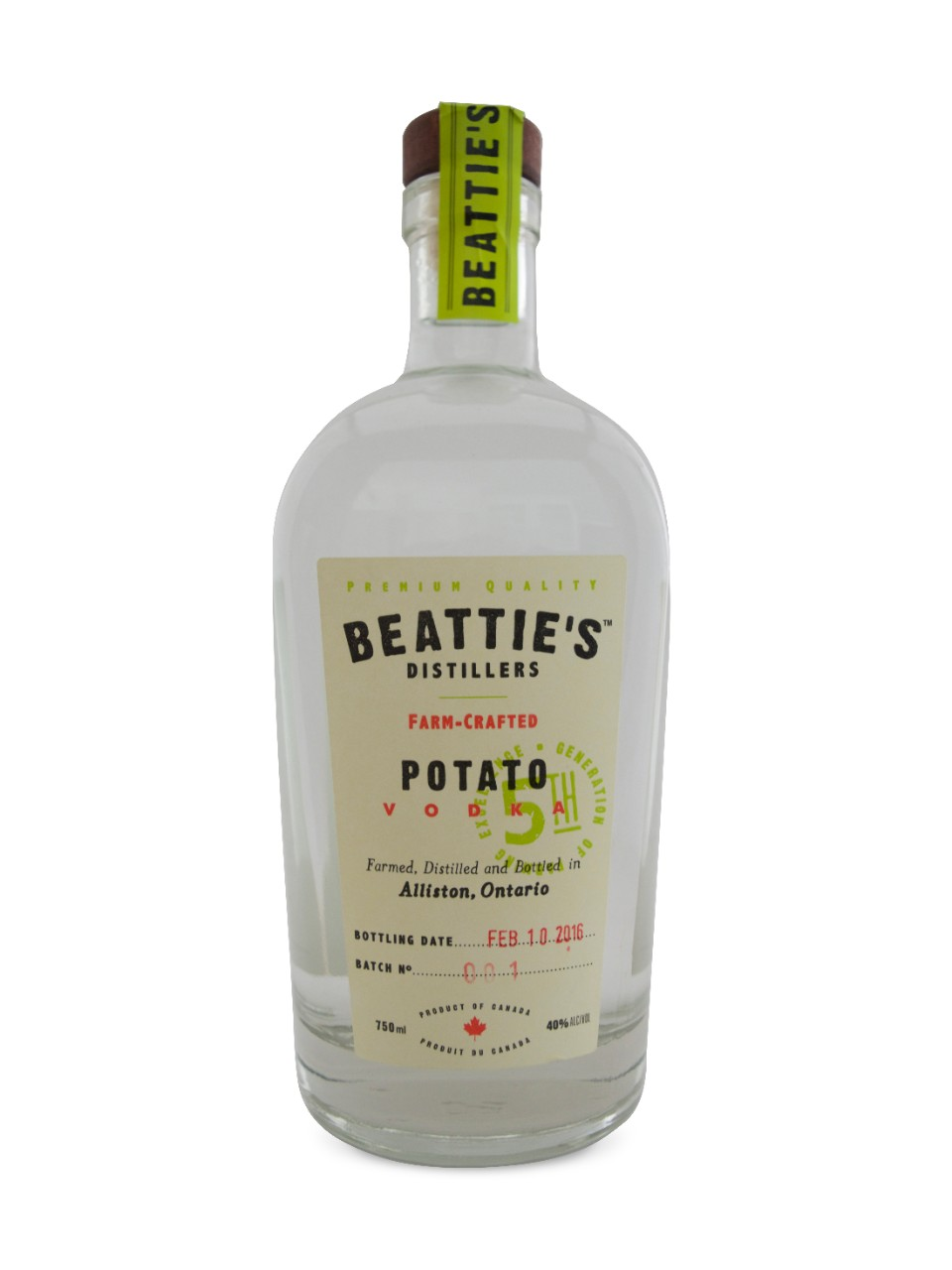 Image for Beatties Distillers Farm Crafted Potato Vodka from LCBO