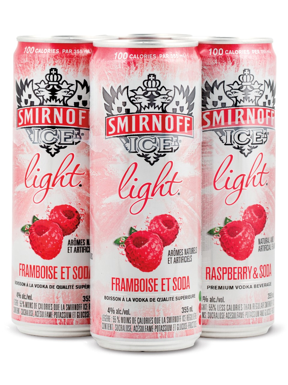 Smirnoff Ice Light Raspberry & Soda                                                                                             -A