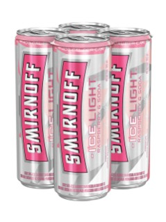 Smirnoff Ice Light Raspberry & Soda