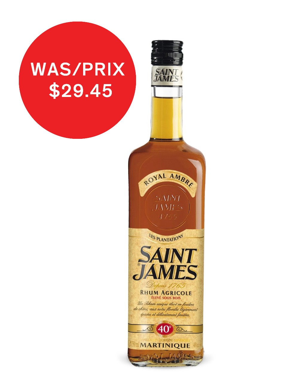 Image for Saint James Royal Ambre Agricole Rum from LCBO