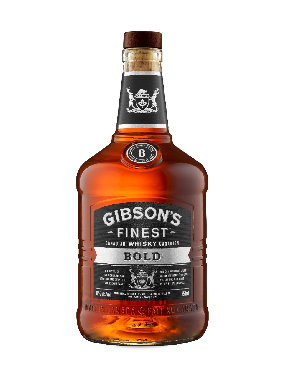 Whisky canadien Gibson's Finest Bold 8 ans d'âge