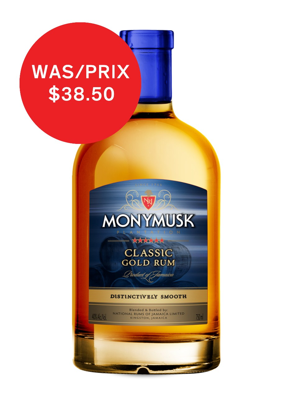 Image for Monymusk Classic Gold Rum from LCBO