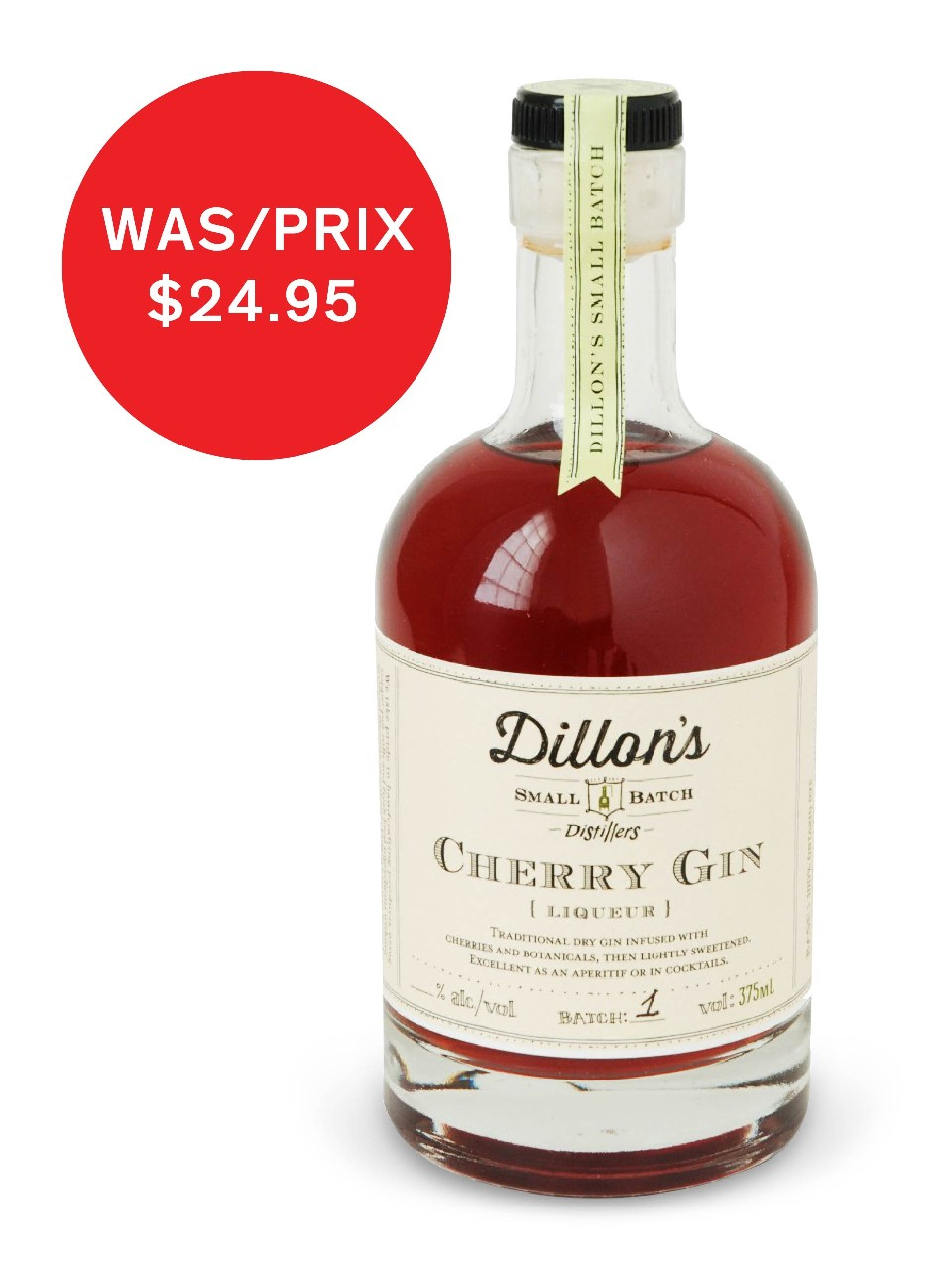 Image for Dillon's Cherry Gin from LCBO