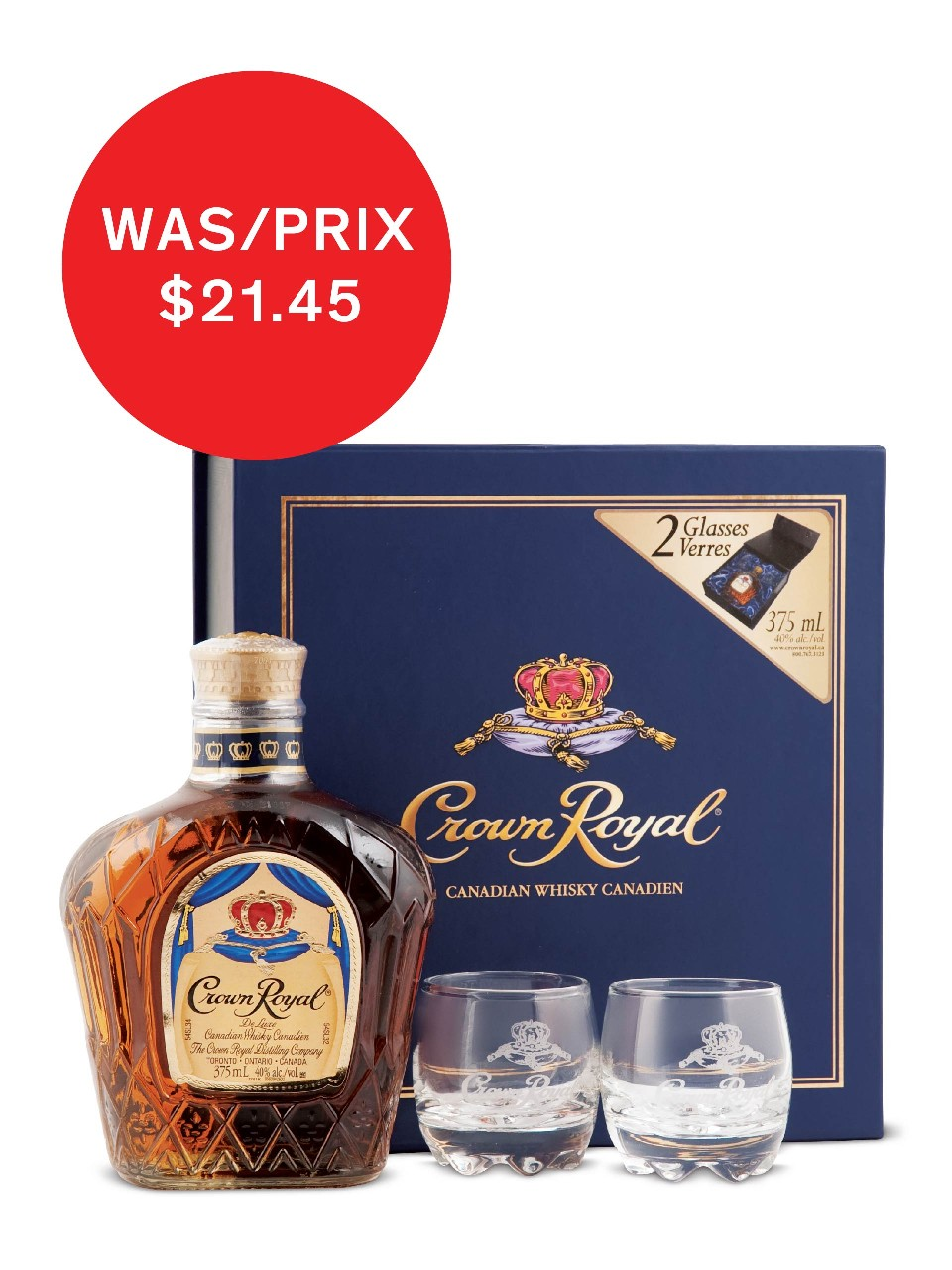 Crown Royal W/Glasses Gift from LCBO