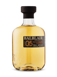 Whisky écossais Single malt des Highlands Balblair 2005