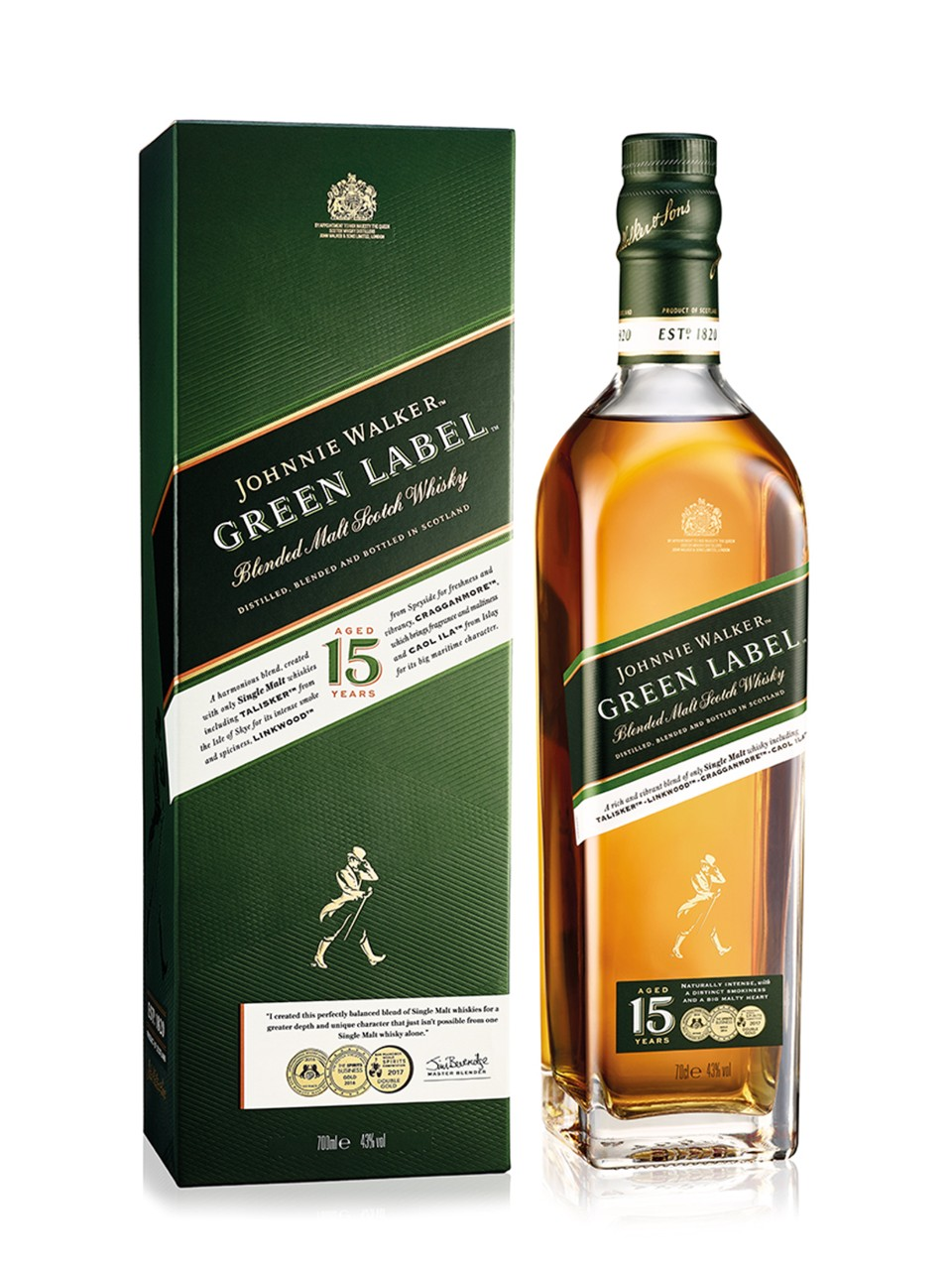 Image for Johnnie Walker Green Label Scotch Whisky from LCBO