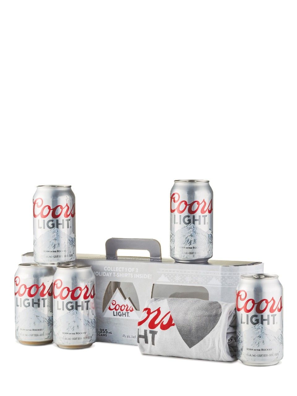 Coors Light Ugly Christmas Shirt Gift Pack