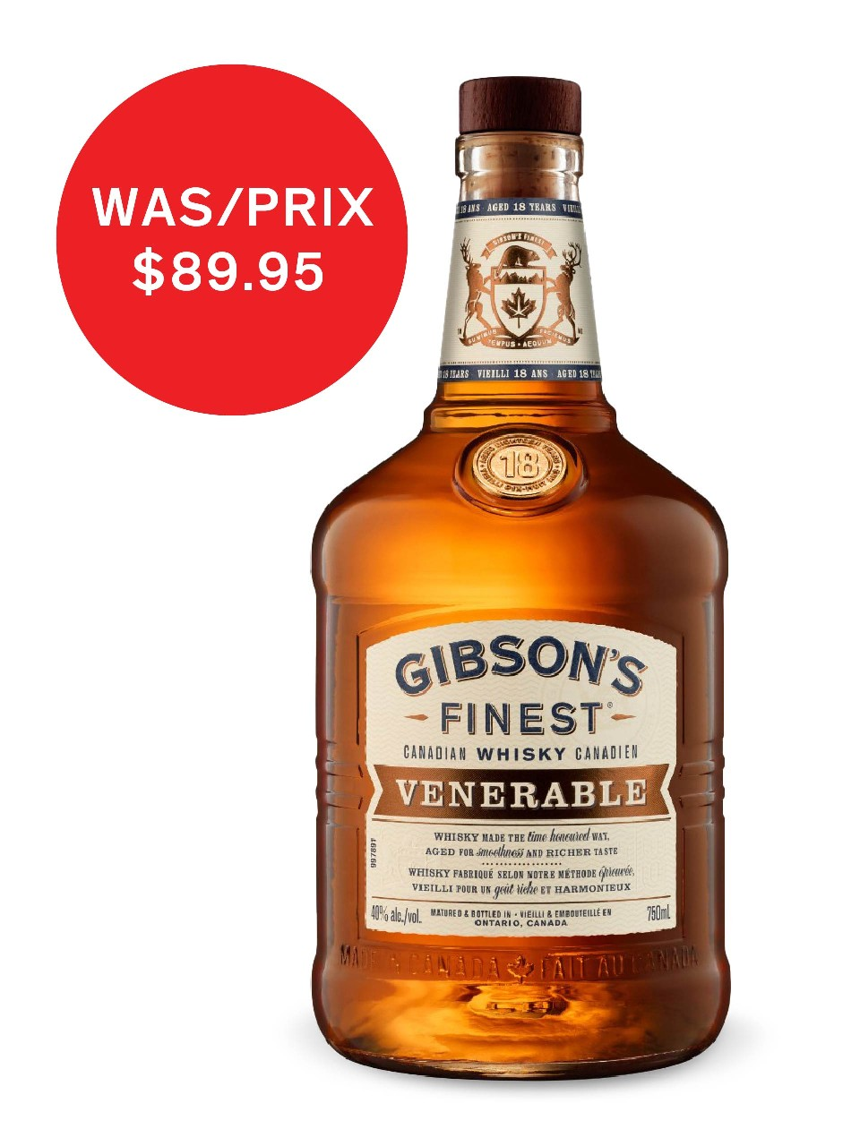 Image for Gibson's Finest Venerable 18 Year Old Whisky from LCBO