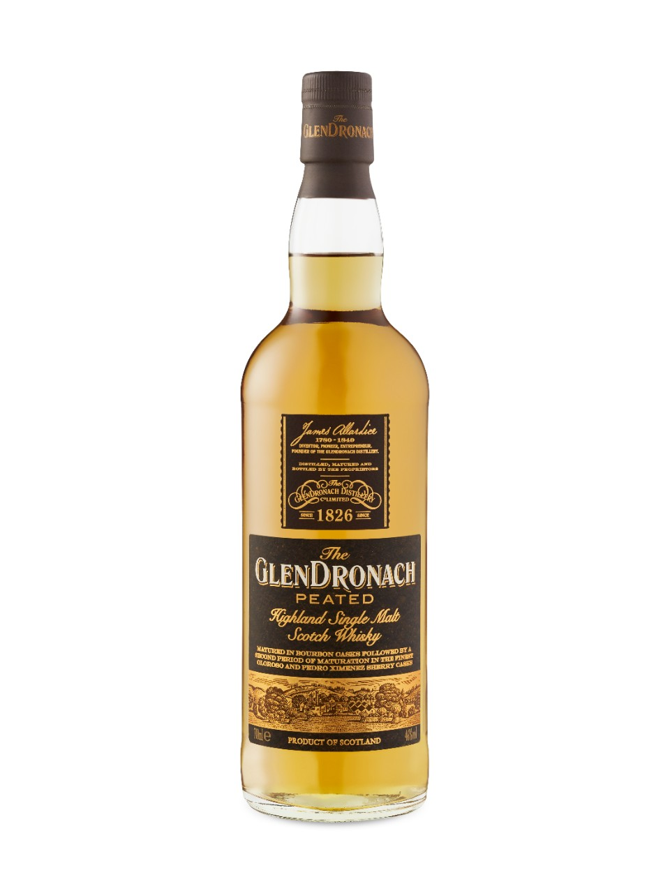 Whisky écossais Single Malt Glendronach Tourbé                                                                                -A