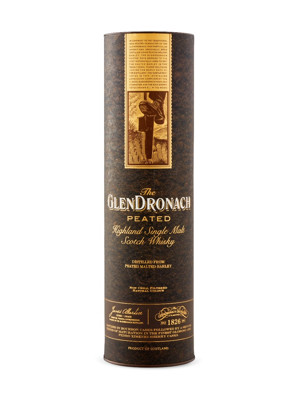 Whisky écossais Single Malt Glendronach Tourbé