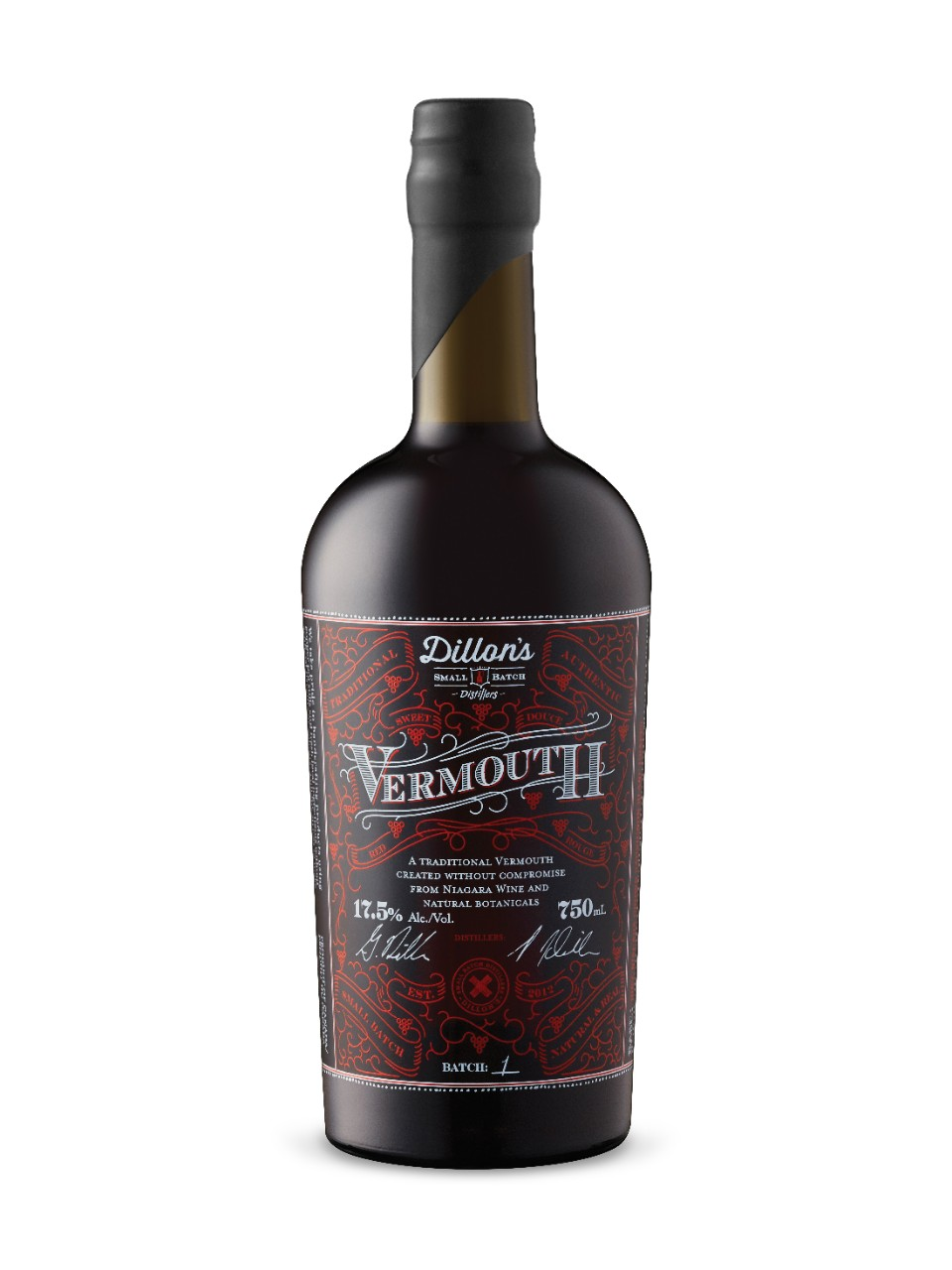 Image for Dillon's Small Batch Distillers Sweet Vermouth from LCBO