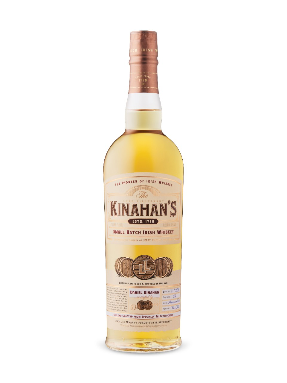Image for Lord Lieutenant Kinahan's Small Batch Irish Whiskey from LCBO