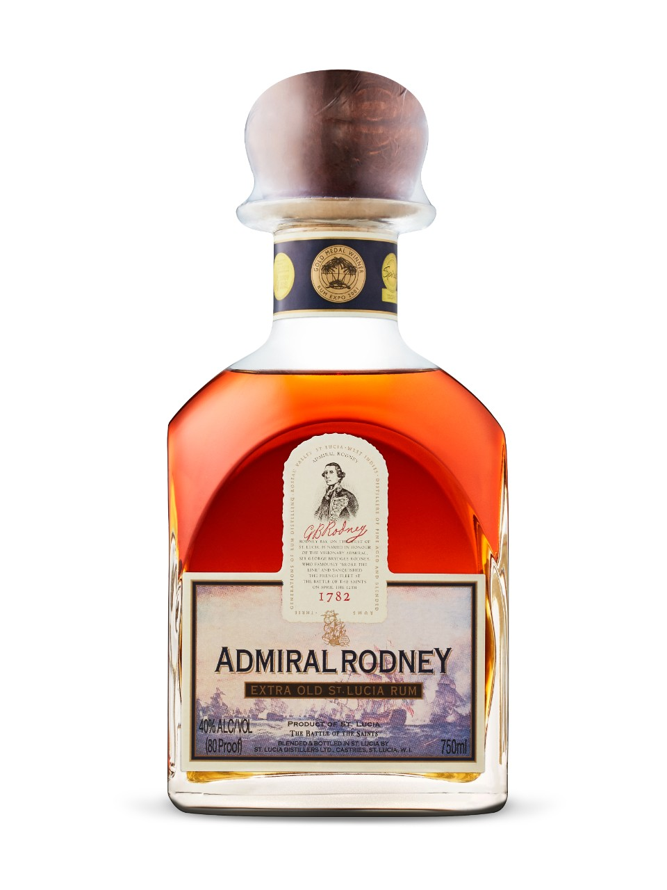 Rhum de St. Lucia Admiral Rodney Extra Old