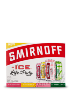 Sminoff Ice Flavours Party Pack 12 x 355 mL