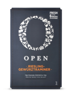 Open Riesling Gewürztraminer VQA Bag in Box