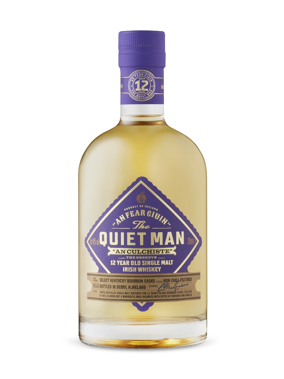 Image for Quiet Man 12 Year Old An Culchiste Reserve Single Malt Irish Whiskey from LCBO