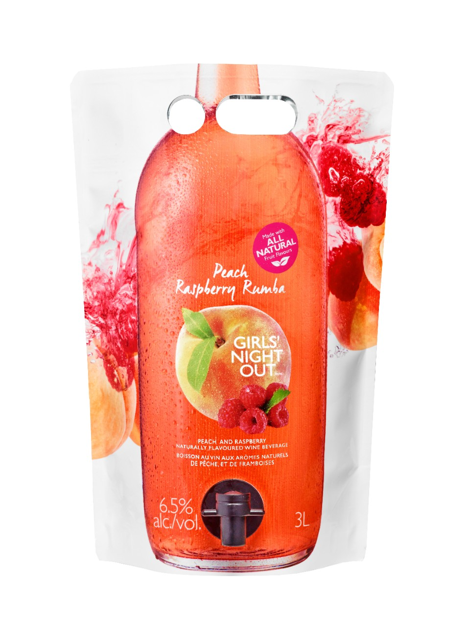 Image for Girls' Night Out Peach Raspberry Rumba Astropack from LCBO