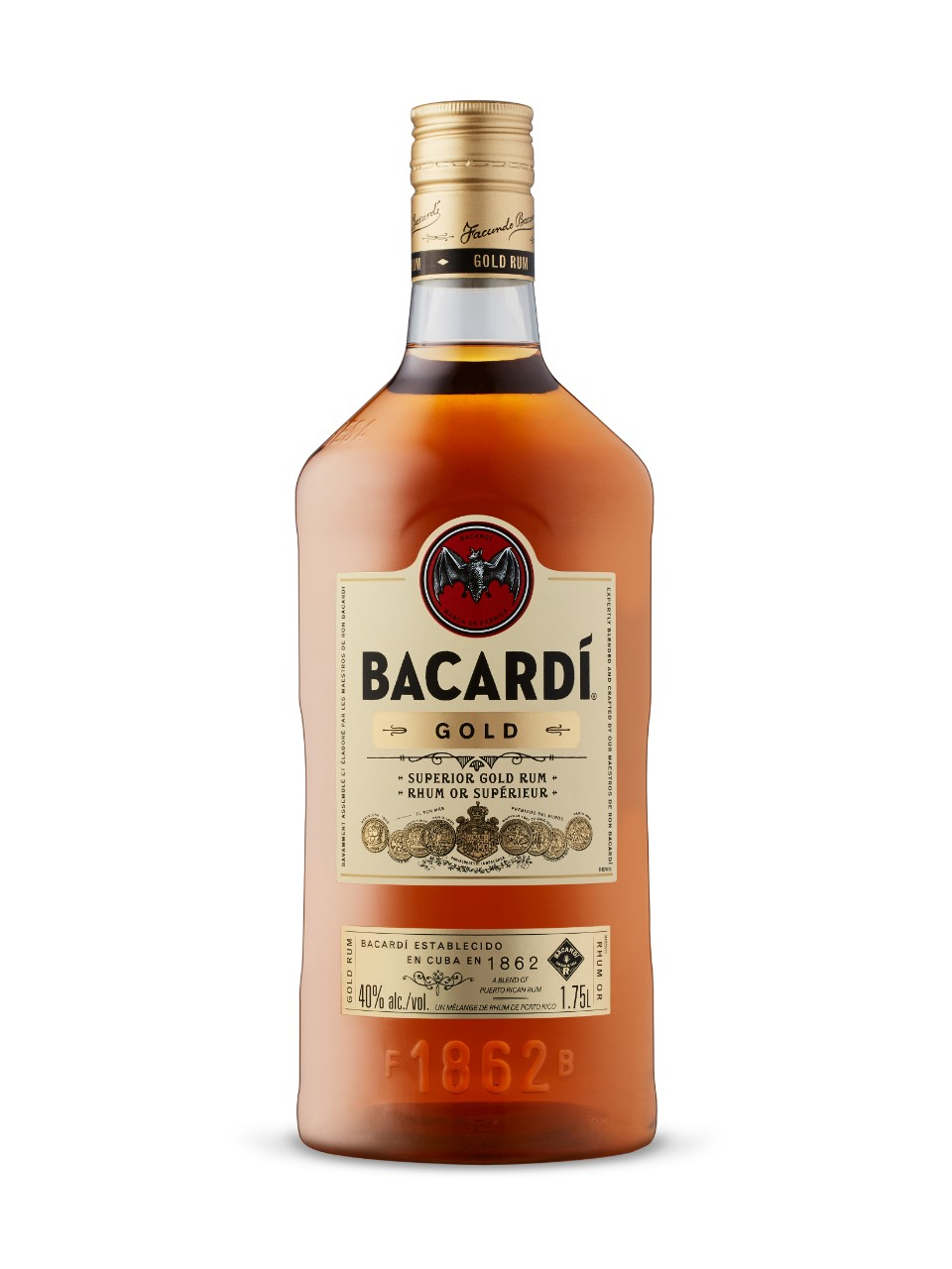 Image for Bacardi Gold Rum (PET) from LCBO