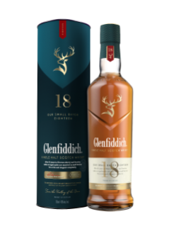 Whisky écossais Single Malt Glenfiddich 18 ans d'âge