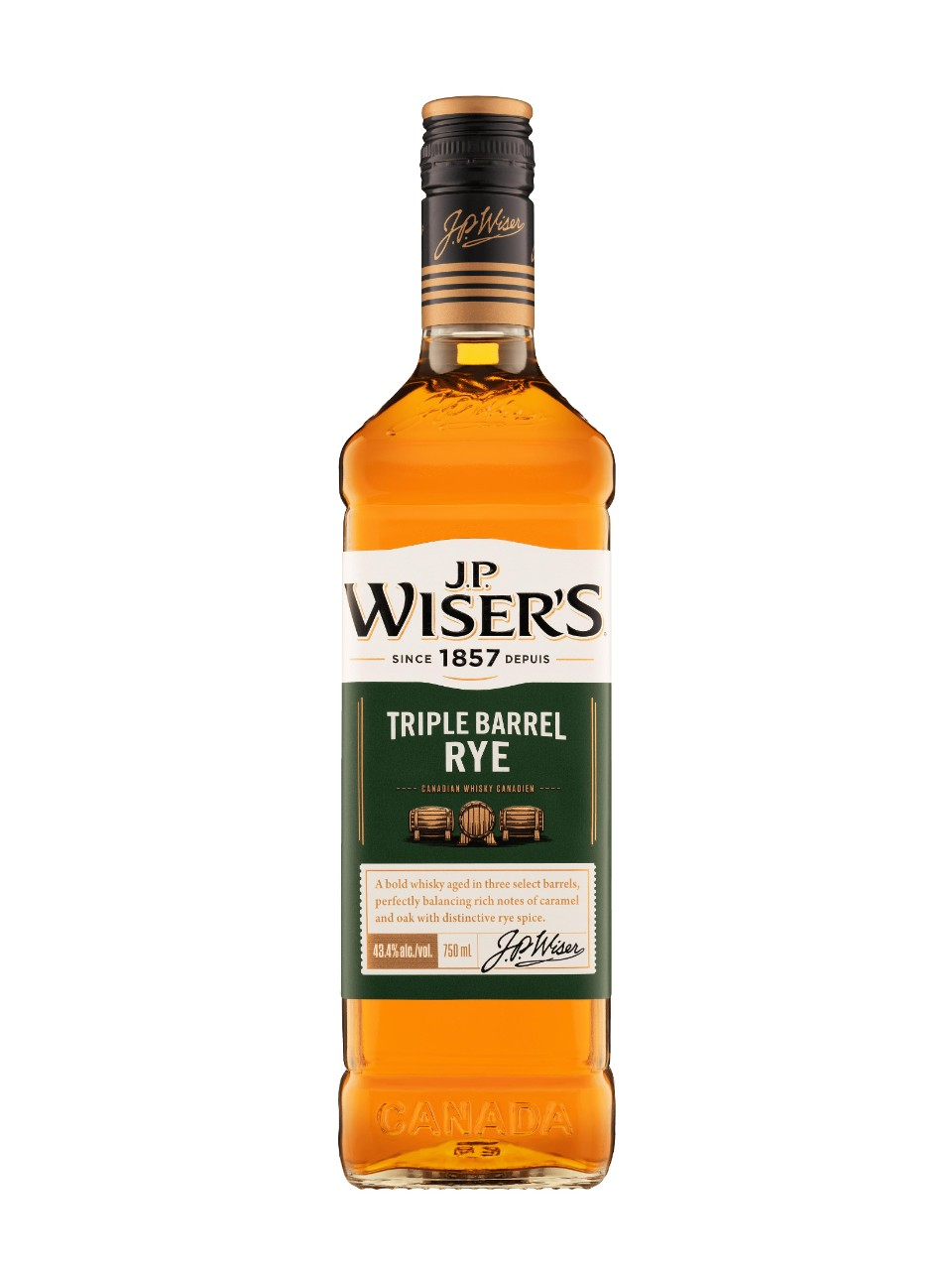 Image for J.P. Wiser's Triple Barrel Rye Whisky from LCBO