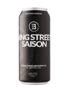 Block Three Brewing King Street Saison