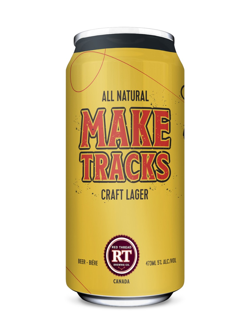 Image for The Red Thread Brewing Co Make Tracks Craft Lager from LCBO