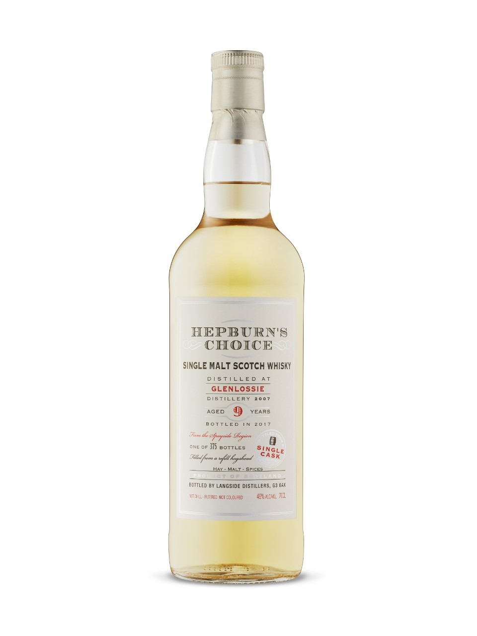 Hepburns Choice Glenlossie 9-Year-Old Single Cask