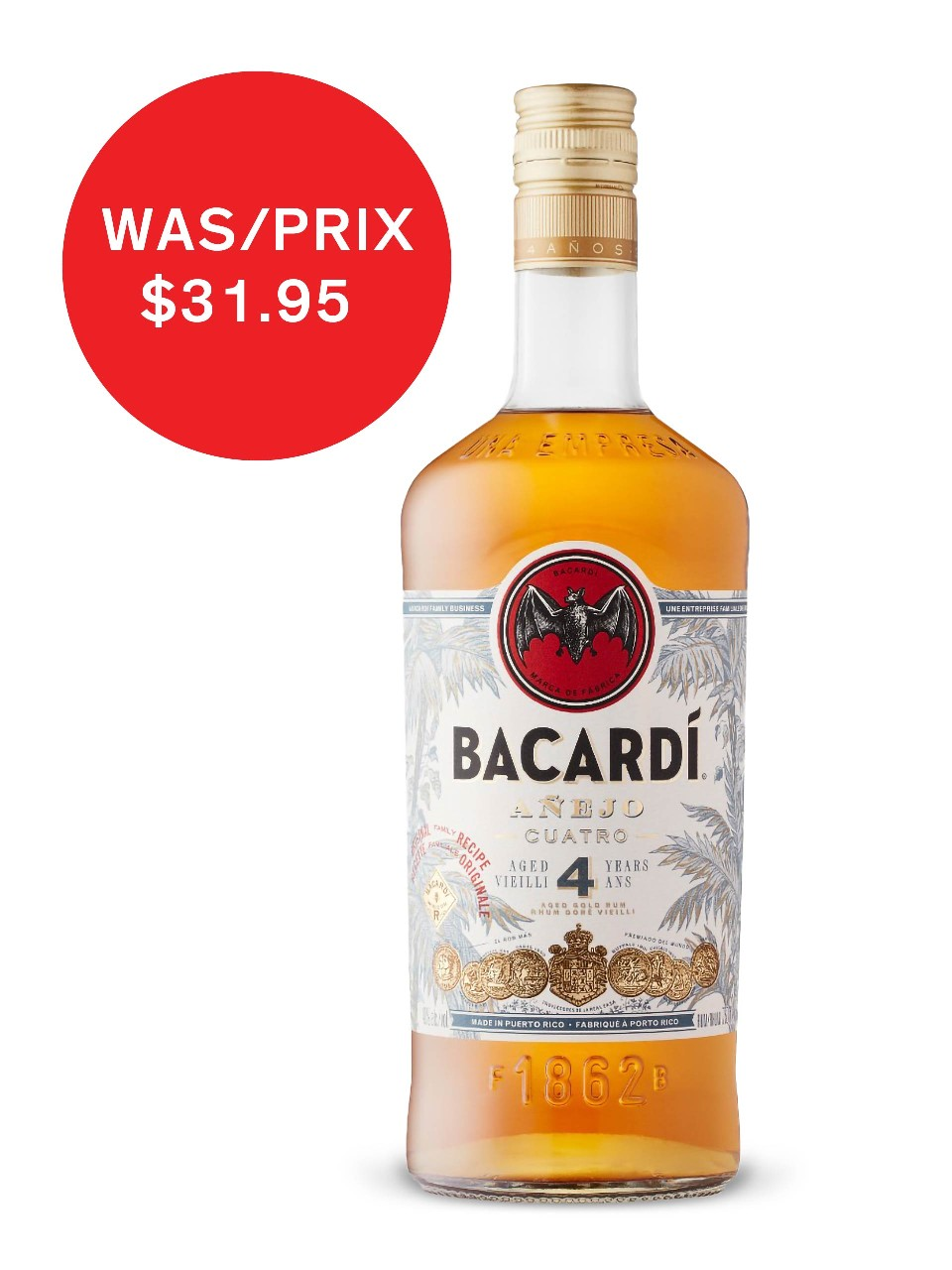 Image for Bacardi Anejo 4 Year Old from LCBO
