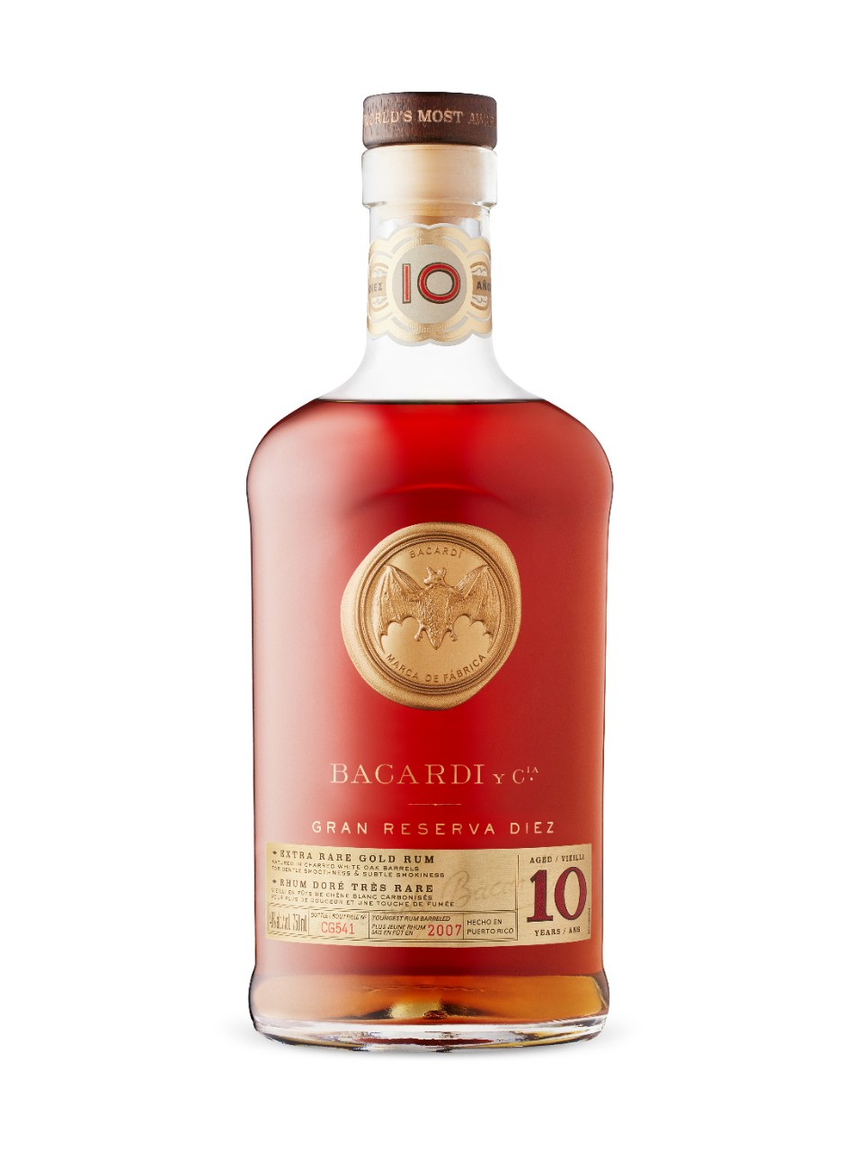 Image for Bacardi 10 Year Old Gran Reserva Gold Rum from LCBO