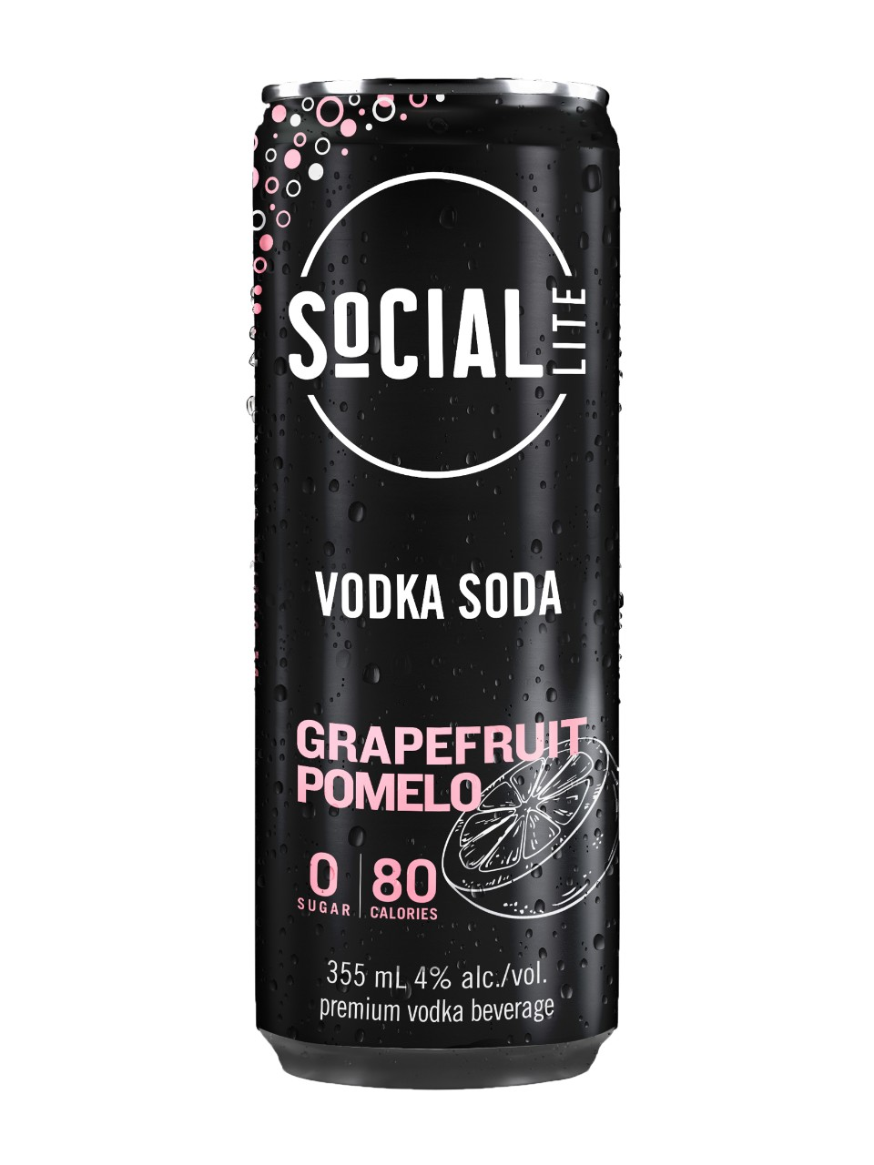 Social Lite Grapefruit Pomelo Vodka Soda from LCBO