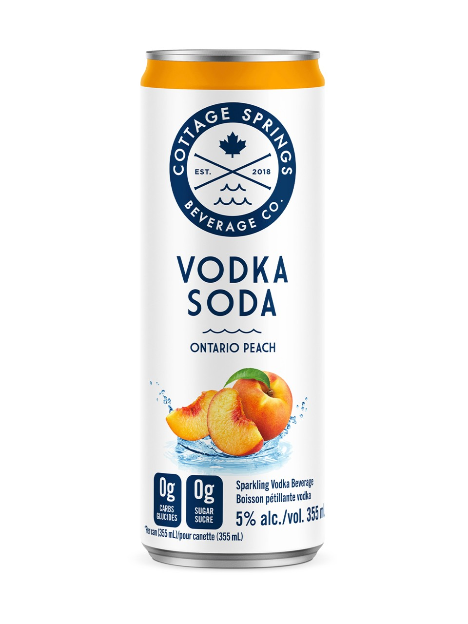 Cottage Springs Ontario Peach Vodka Soda from LCBO