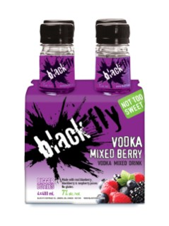 Black Fly Vodka Mixed Berry (PET)
