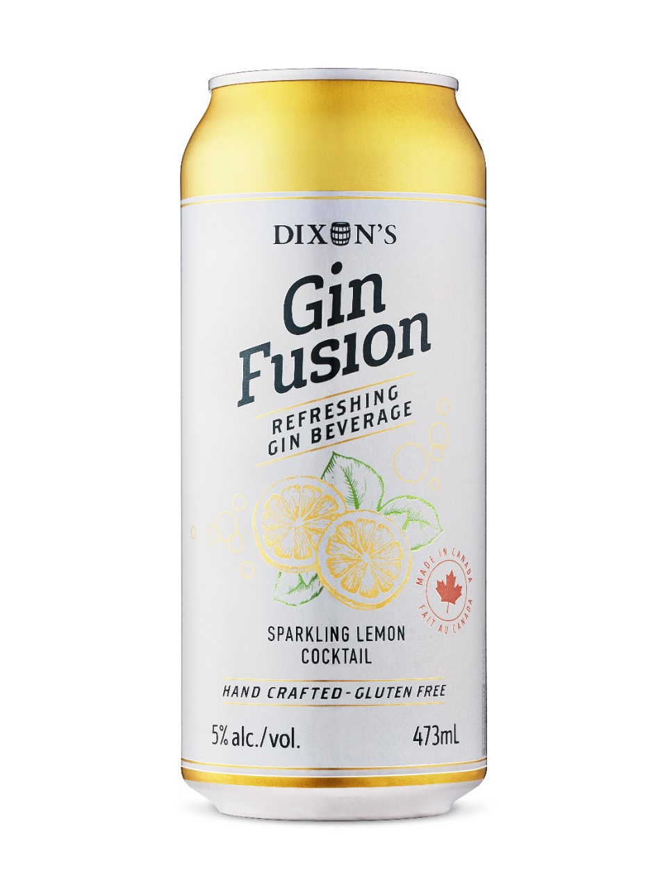 Cocktail au citron pétillant Gin Fusion