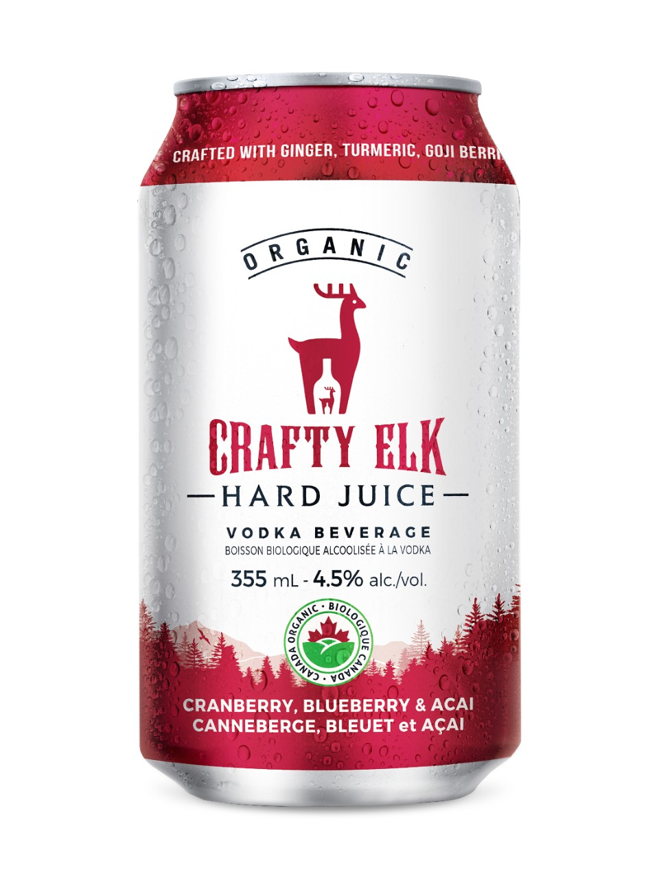 Image for Crafty Elk Hard Juice CRANBERRY, BLUEBERRY & ACAI from LCBO