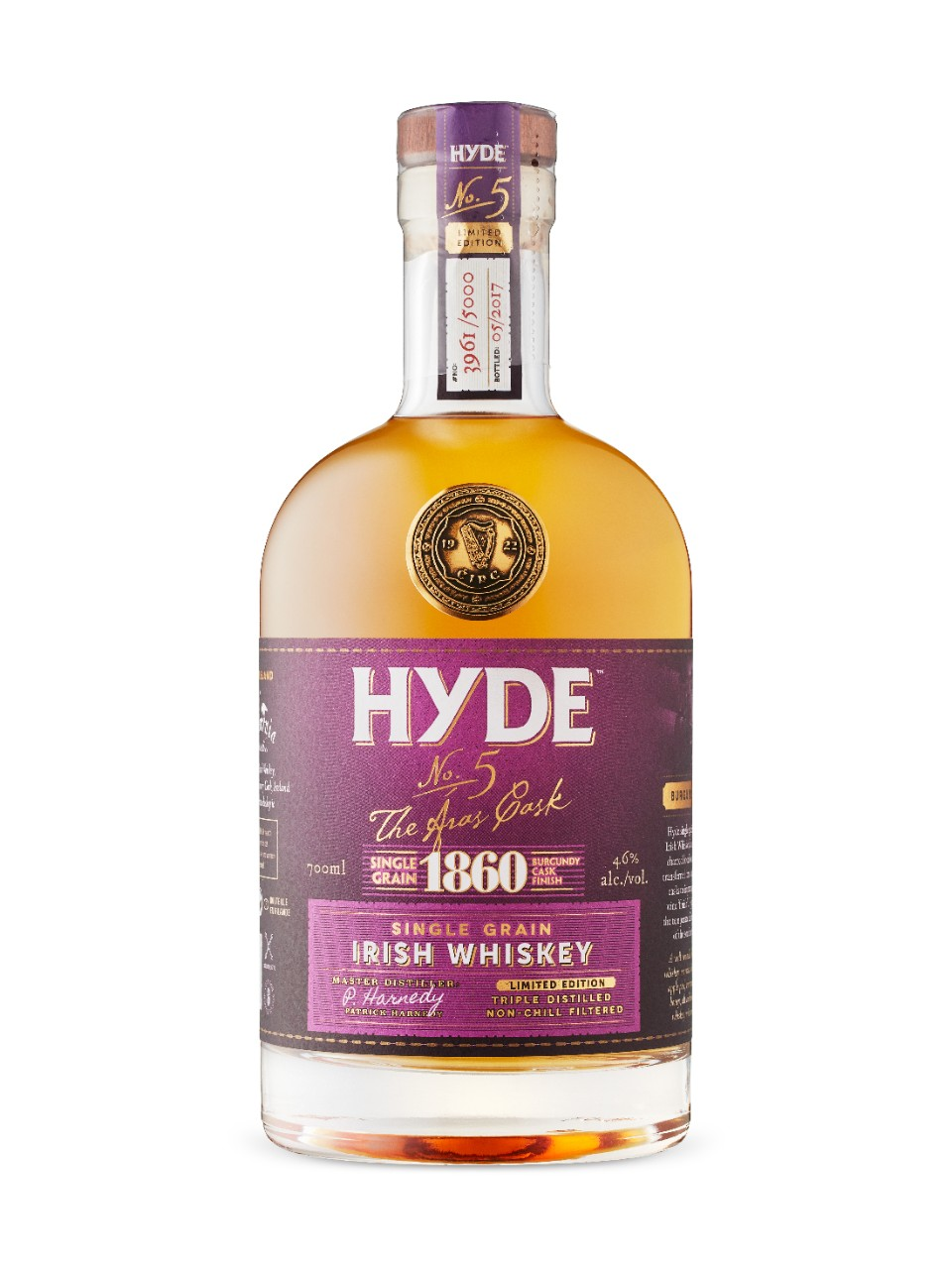 Image for Hyde 1860 Grain With Bugundy Finish 6 Year Old from LCBO